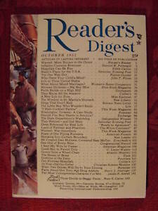 Readers Digest October 1951 Max Eastman James Sessions John T Flynn James Aswell