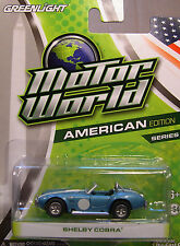BLUE 1965 SHELBY COBRA GREENLIGHT COLLECTIBLES 1:64 SCALE DIECAST METAL CAR