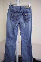 LEI Cotton Blend Medium Wash Boot Leg Junior's Jeans Size - 1