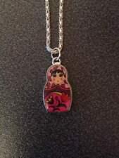 1 pink  russian doll babuska necklace