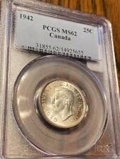 1942 canada twenty five cent PCGS MS 62 **