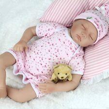 REALISTIC REBORN BABY GIRL DOLL SILICONE VINYL LIFELIKE NEWBORN BABY+CLOTHES