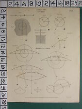 1812 DATED ANTIQUE PRINT ~ ANALYSIS ~ GYRATION HARMONIC CURVE VARIOUS DIAGRAMS