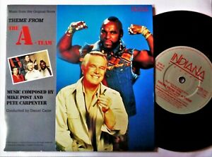 """A-TEAM TV THEME VINYL 45 Cult TV Library Soundtrack Mike Post RARE 7"""" Record NM"""