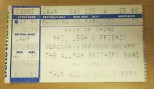 2001 The Allman Brothers Band Phil Lesh Charlotte Concert Ticket Stub Grateful