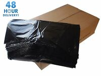 BLACK EXTRA HEAVY DUTY REFUSE BAGS CHSA SACKS BIN LINERS RUBBISH BAG 200G GWH2