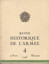 C1  REVUE HISTORIQUE DE L ARMEE # 4 1948