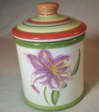 Dansk TROPICAL SWIRLS: Small Handpainted Canister w. Gasketed Lid: EXC: NR