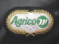 "AGRICO EMBROIDERED SEW OR IRON ON PATCH VINTAGE FARM TRUCKS 3 3/4"" x 2 1/4"""