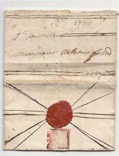 1730 R.SARDEGNA lettera scritta in francese TORINO-AOSTA+stemma ARALDICO-J618