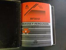 Massey Ferguson MF5610 Parts Book  3906418M2