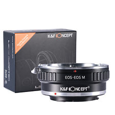 K&F Concept Lens Mount Adapter Canon EOS EF To Canon EOS M EF-M Mount Camera M5