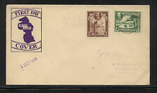 British  Guiana  210,211  on first day cover  1934      AT0528-5