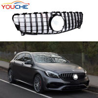 Front Hood Mesh Silver GT Grill for Mercedes Benz W176 A200 A45 AMG 16-18 UK