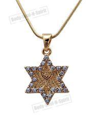 Star of David Magen Soul Lamp Menorah Pendant Necklace LUCKY Judaica Holy Gift