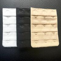 Women's Three-Hook   Bra Extender Pack of 3 (White, Beige, Black)