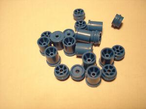 10 PAIR H.O. SCALE REPRO PLASTIC RIM SETS AURORA G+/TURBO/SRT/SG+/AFX BLUE