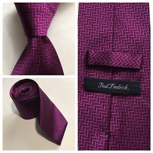 Paul Fredrick Mens Floral Silk Tie