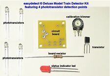 DELUXE HO SCALE MODEL TRAIN DETECTOR KIT WITH 4 DETECTION POINTS