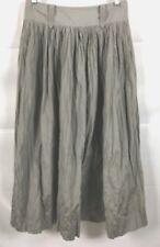 Robert Rodriguez Gray Metallic Pleated Maxi Skirt Crinkle Polyester Women Size 6