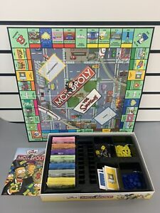 Hasbro Parker Games - The Simpsons Monopoly 2003 - Checked & Complete
