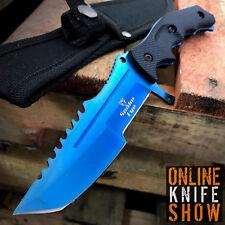 TACTICAL SURVIVAL Rambo Full Tang FIXED BLADE KNIFE Hunting w/ SHEATH HUNTSMAN