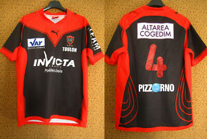 Maillot rugby Toulon #4 RCT 2009 Invicta Puma Vintage Jersey Shirt - M