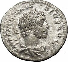 Elagabalus Bisexual Emperor 221AD Silver Ancient Roman Coin Liberty Cult  i50960