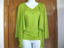 New  Women's Avocado Green Jacket/Beaded Shell Combo by RQT-Size S