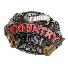 FS696 New Vintage Original Western Cowboy Initial Antique Guitar Belt Buckle