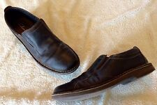 CLARKS MENS 11 M DEANE BROWN LEATHER SLIP ON LOAFER SHOES #62185