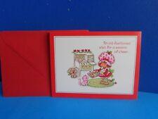 5 VINTAGE STRAWBERRY SHORTCAKE XMAS CARDS- 1980 UNUSED