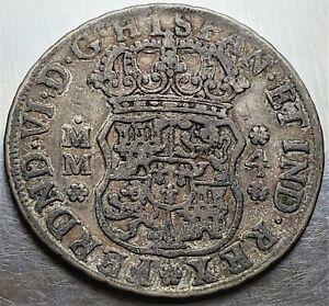 4 Reales 1758 MM Mexico SPANISH COLONY Ferdinand VI Ultra Rare Date !!!! KM# 96