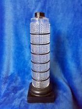 ROGER & GALLET grand flacon cylindrique point diamant,  style de la tour Pise
