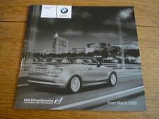BMW 1 Series Convertible listino prezzi di vendita opuscolo marzo 2009.