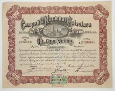 MEXICO P/11a Compañía Nacional Petrolera El Oro Negro, 10 acciones PAGADORA 1914