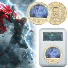 WR Marvel's The Avengers Thor Odinson Gold Commemorative Coin Souvenir In Slab