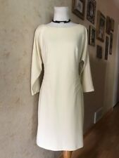ABS Collection Cream 3/4 Sleeve Dress Size S