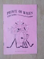PRINCE OF WALES THEATRE PROGRAMME 1951 VARIETY STARRING BOB HOPE