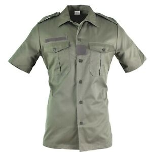 Original French army Olive OD shirt short sleeves F2 T-shirts NEW