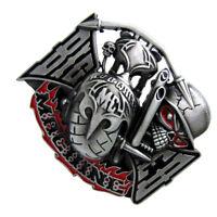 Western Cowboy Ghost Skull Head Fashion Belt Buckle Mechanical Belt Buckle