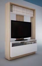 Mueble de salón comedor funcional en color roble y blanco 160x113x37 cm