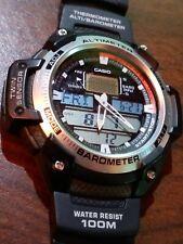 Vintage Casio Illuminator 5 Alarm World Time Quartz Watch SGW-400H Mod 5176 VG