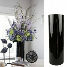"Large conical floor vase glass, black, 24"" / 60 cm 8"" /19 cm  flower vase"