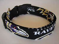 Charming Handmade Baltimore Ravens Football Dog Collar