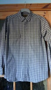 Timberland Men's blue and white check shirt, Size large