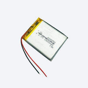 3.7V 604050 1800mAh Lipolymer Rechargeable Battery Cell For Recorder GPS Reader