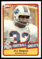 1989 Hall of Fame RED #127 O.J. Simpson HOF RARE Buffalo Bills / USC Trojans