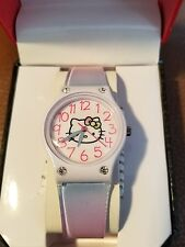 Hello Kitty Womens Girls Watch With Silicone Band And Crystals HKAQ2799