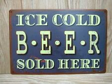 1 x man cave metal tin sign cold beer shed hotel bar vintage antique retro art